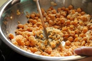 mashing beans